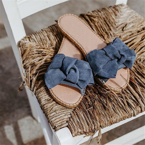 Fashion Sweet   Bow Flat Slippers