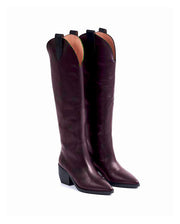 Fashion pointed high barrel solid color women's Boots BJ55