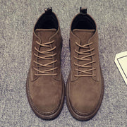 Men's simple solid color lace Martin boots lc038