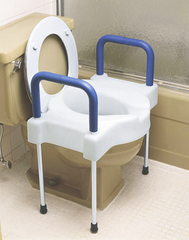 Maddak: Heavy Duty Elevated Toilet Seat with Aluminum Legs