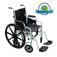 Drive: Poly Fly Lightweight Transport Chair Wheelchair Combo