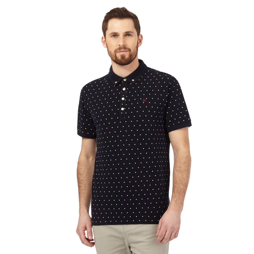 df0402be Hammond & Co. by Patrick Grant Mens Big & Tall Navy Textured Diamond P –  Big Peoples Things