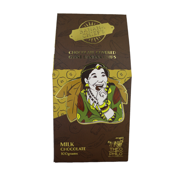 Banana Chief's Chocolate Covered Giant Banana Chips Milk Chocolate - Foodsource PH