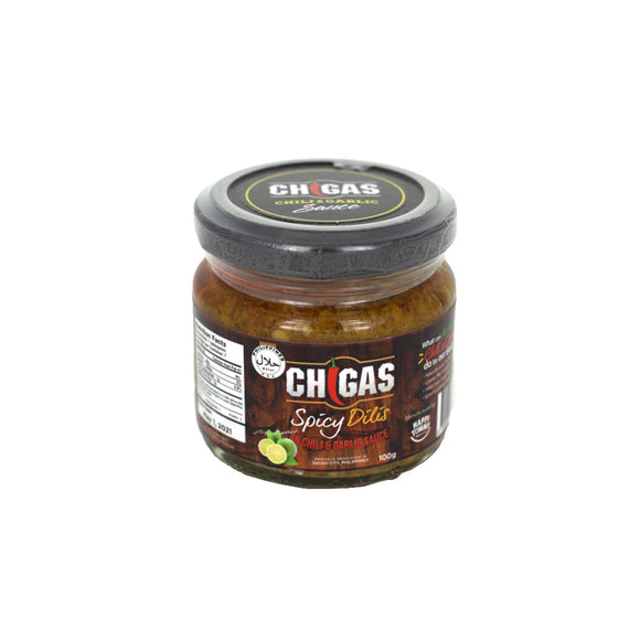 Chigas Spicy Dilis in Chili & Garlic Sauce with Calamansi 100g - Foodsource PH