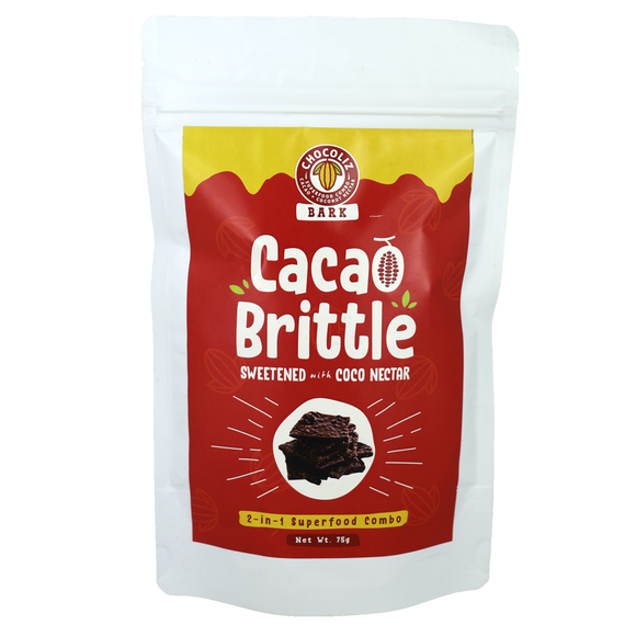 Chocoliz Bark Cacao Brittle sweetened with coco nectar 75g 2-in-1 superfood combo - Foodsource PH
