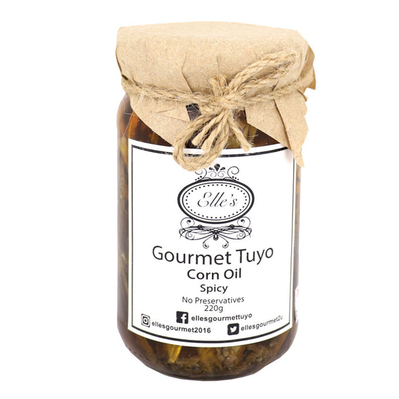 Elle's Gourmet Tuyo in Corn Oil Spicy 220g - Foodsource PH