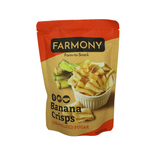 Farmony Banana Crisps – Caramelized Sugar 60g - Foodsource PH