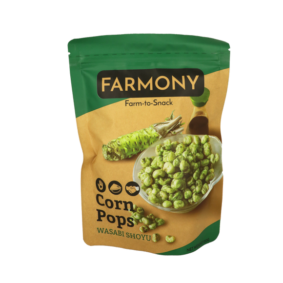 Farmony Corn Pops – Wasabi Shoyu 120g - Foodsource PH