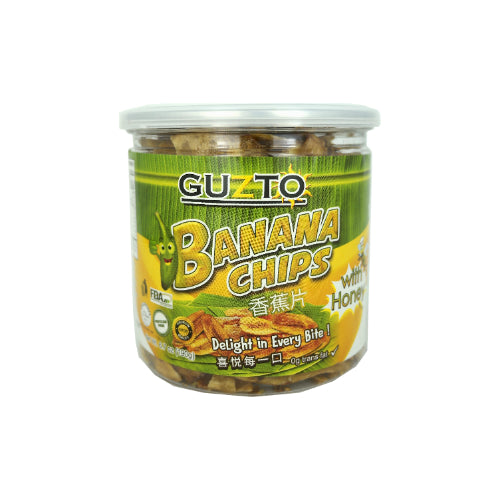 Guzto Banana Chips with Honey 190g