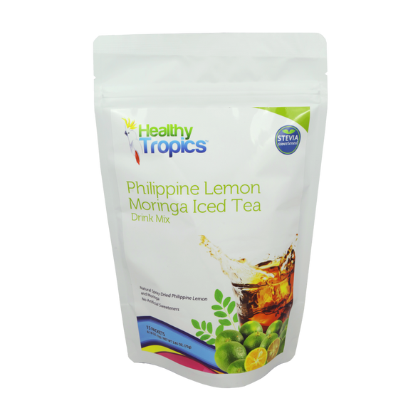 Healthy Tropics Philippine Lemon Moringa Iced Tea 15 Sachets - Foodsource PH