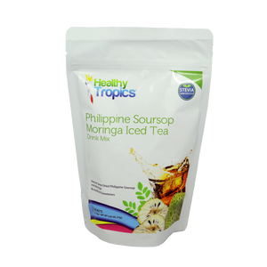 Healthy Tropics Philippine Soursop Moringa Iced Tea 15 sachets - Foodsource PH