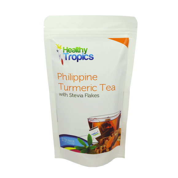 Healthy Tropics Philippine Turmeric Tea with Stevia Flakes 10 bags - Foodsource PH