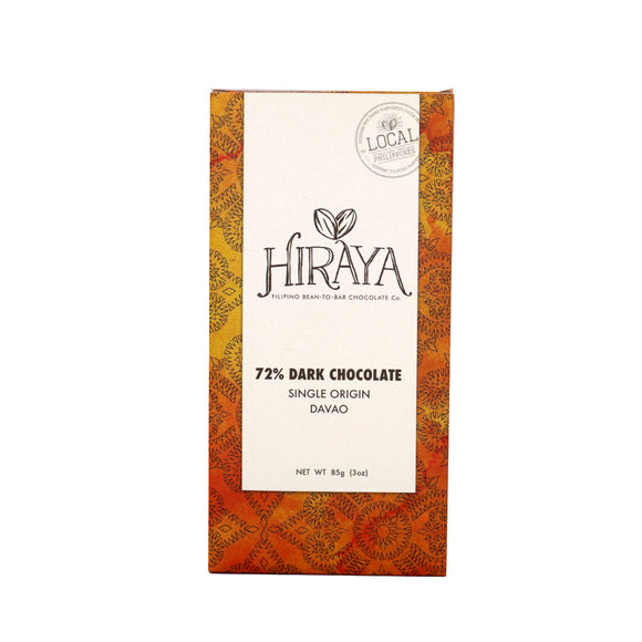 Hiraya 72% Single Origin Dark Chocolate Davao