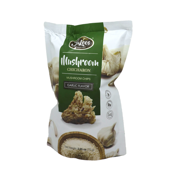 JA Lees Farms Mushroom Chicharon Garlic 75g