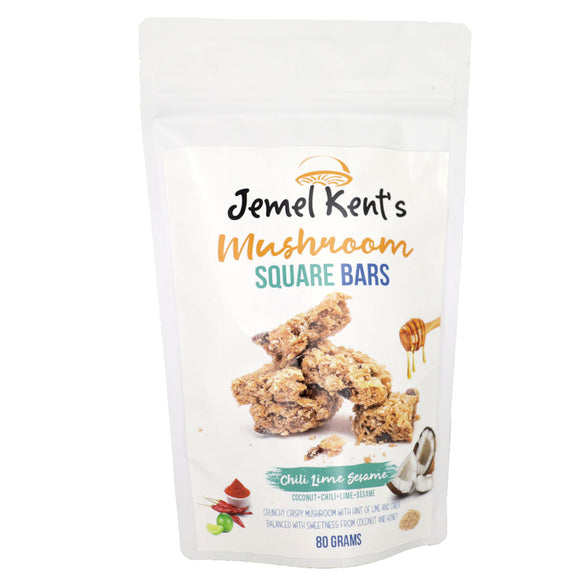 Jemel Kent's Mushroom Square Bars Chili Lime Sesame 80g