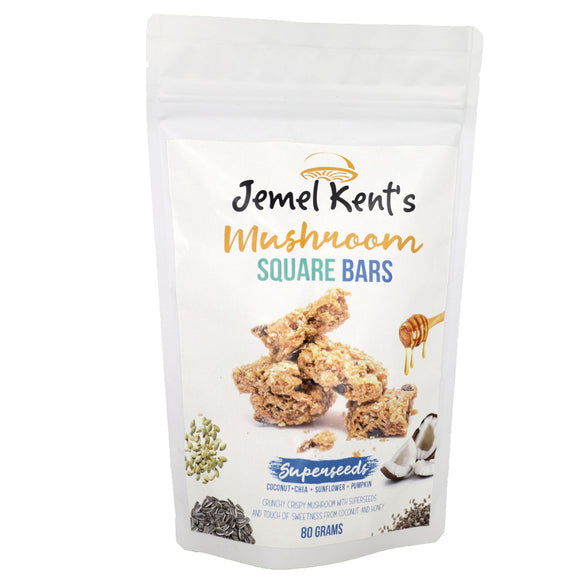 Jemel Kent's Mushroom Square Bars Superseeds 80g