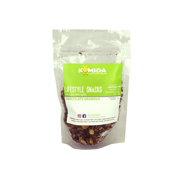 Komida Lifestyle Snack Chocolate Granola 70g - Foodsource PH