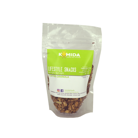 Komida Lifestyle Snack Coffee Granola 70g - Foodsource PH