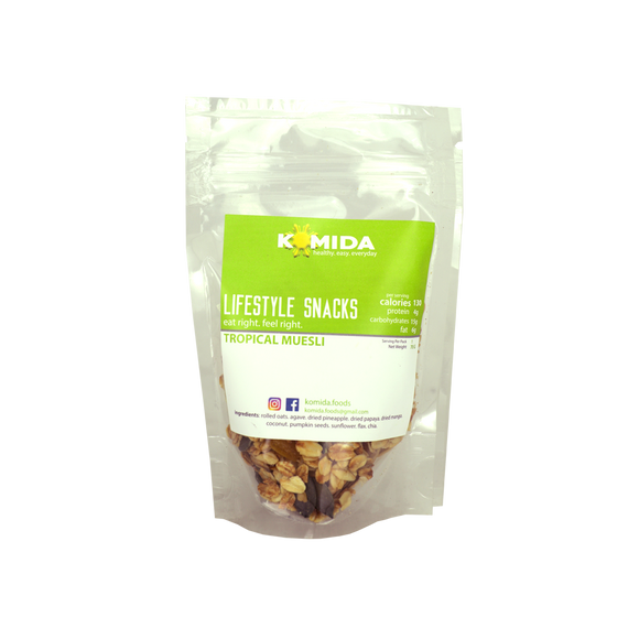 Komida Lifestyle Snack Tropical Muesli 70g - Foodsource PH