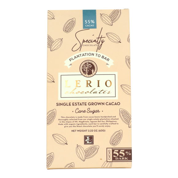 Lerio Chocolates 55% Dark Chocolate 63g