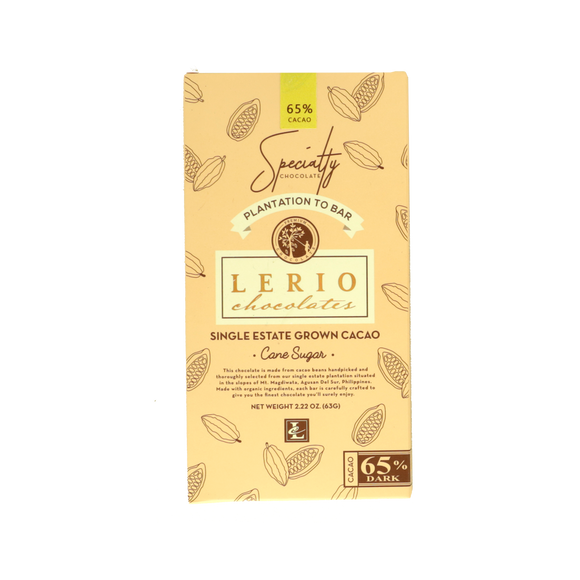 Lerio Chocolates 65% Dark Chocolate 63g - Foodsource PH