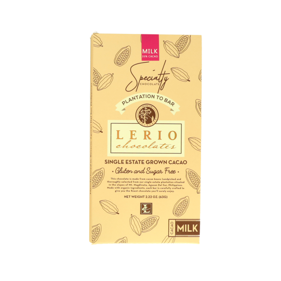 Lerio Chocolates Milk Chocolates – Sugar Free 63g - Foodsource PH
