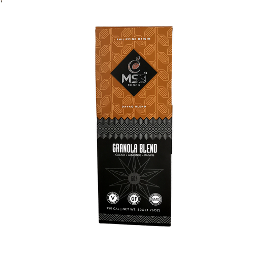 MS3 Choco 45% Dark Chocolate Brain Choc with almonds & raisins 50g