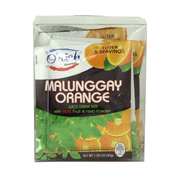 Orich Malunggay Orange Juice Drink Mix 12 sachets - Foodsource PH