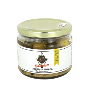 Kusina Sabrosa Gourmet Tinapa in Lemon & Garlic with Pitted Olives 400g