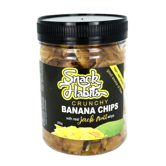 Snack Habits Crunchy Banana Chips with real Jack Fruit strips 180g