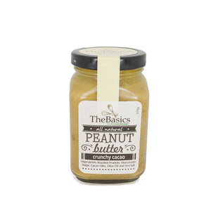 TheBasics Crunchy Cacao all natural Peanut Butter 270g - Foodsource PH