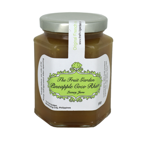 The Fruit Garden Pineapple Coco Rhum Luxury Jam 350g - Foodsource PH