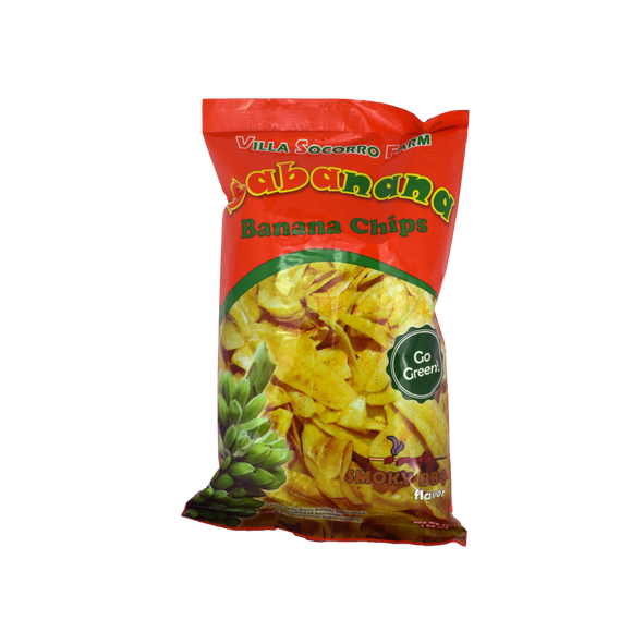 Villa Socorro Farm Sabanana Banana Chips – Smoky BBQ 100g - Foodsource PH