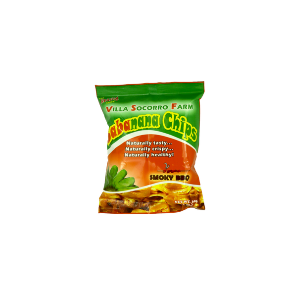 Villa Socorro Farm Sabanana Banana Chips – Smoky BBQ 30g - Foodsource PH