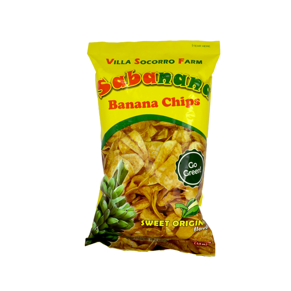 Villa Socorro Farm Sabanana Banana Chips – Sweet Original 100g - Foodsource PH