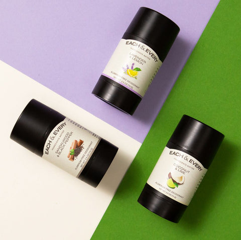 best deodorant, deodorant, each & every, natural brands, female founded, brands I love, products,