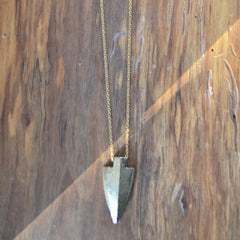 Pyrite Arrowhead Necklace