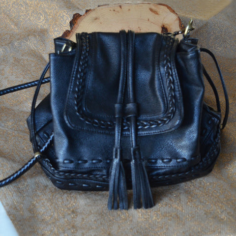 Black Tassel Crossbody Bag