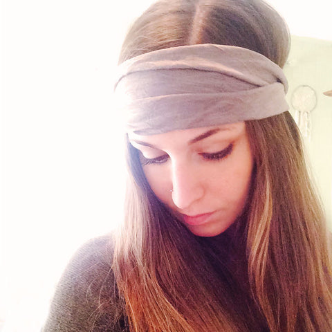 Mauve Wide Headband