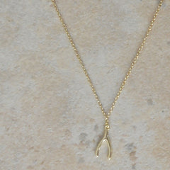 Wishbone Sterling Gold