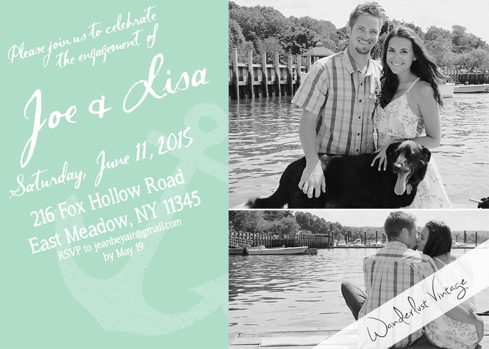 Brittany - Engagement Party Invitation - Digital Printable