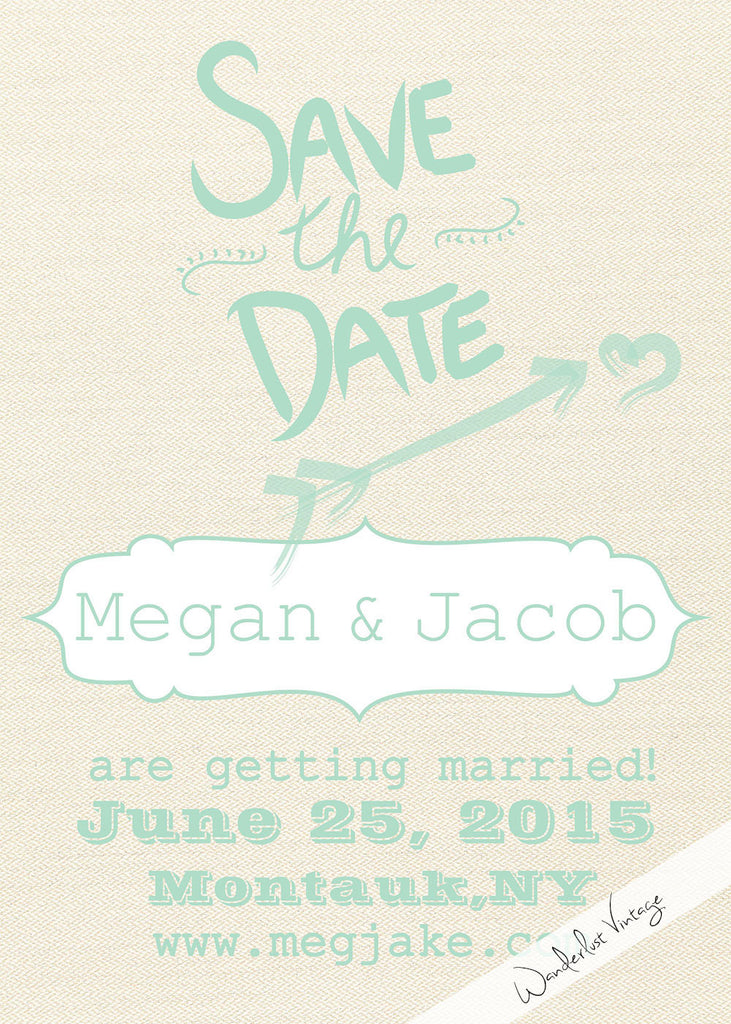 Drawn to Texture - Save the Date - Digital Printable