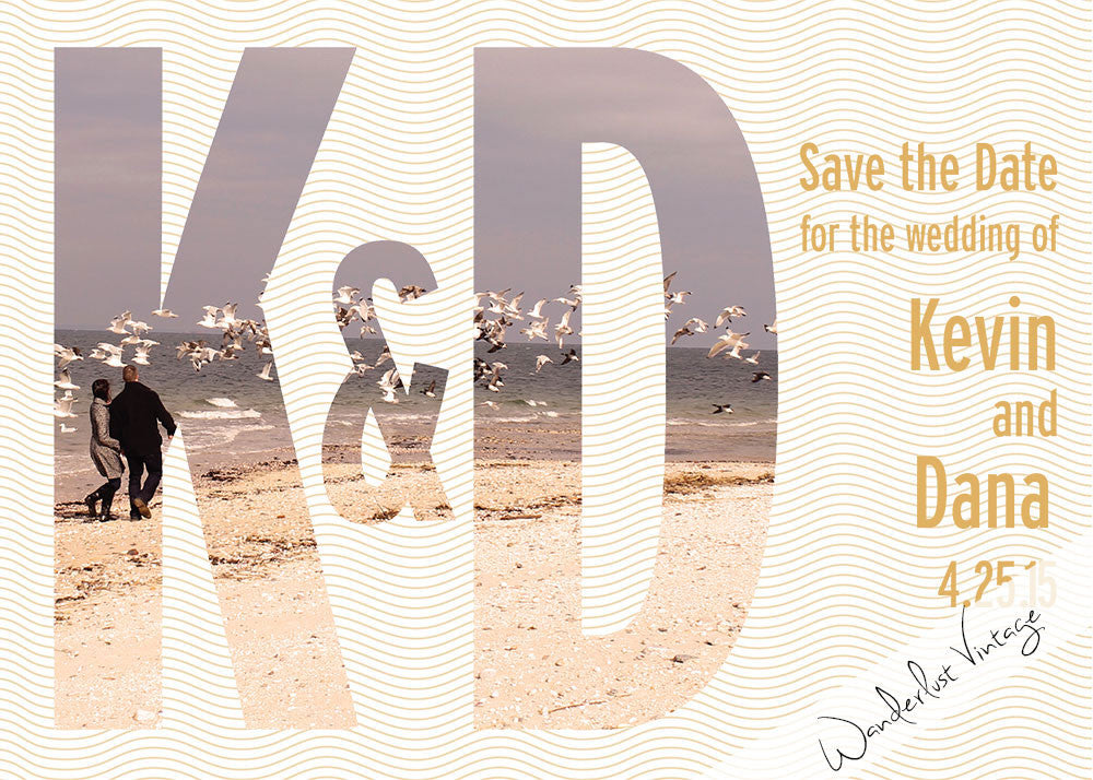 Initials - Save the Date - Digital Printable