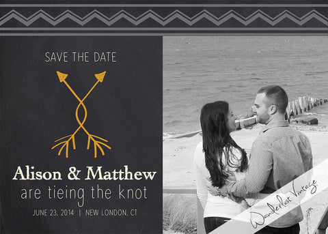 Chalkboard - Save The Date - Digital Printable