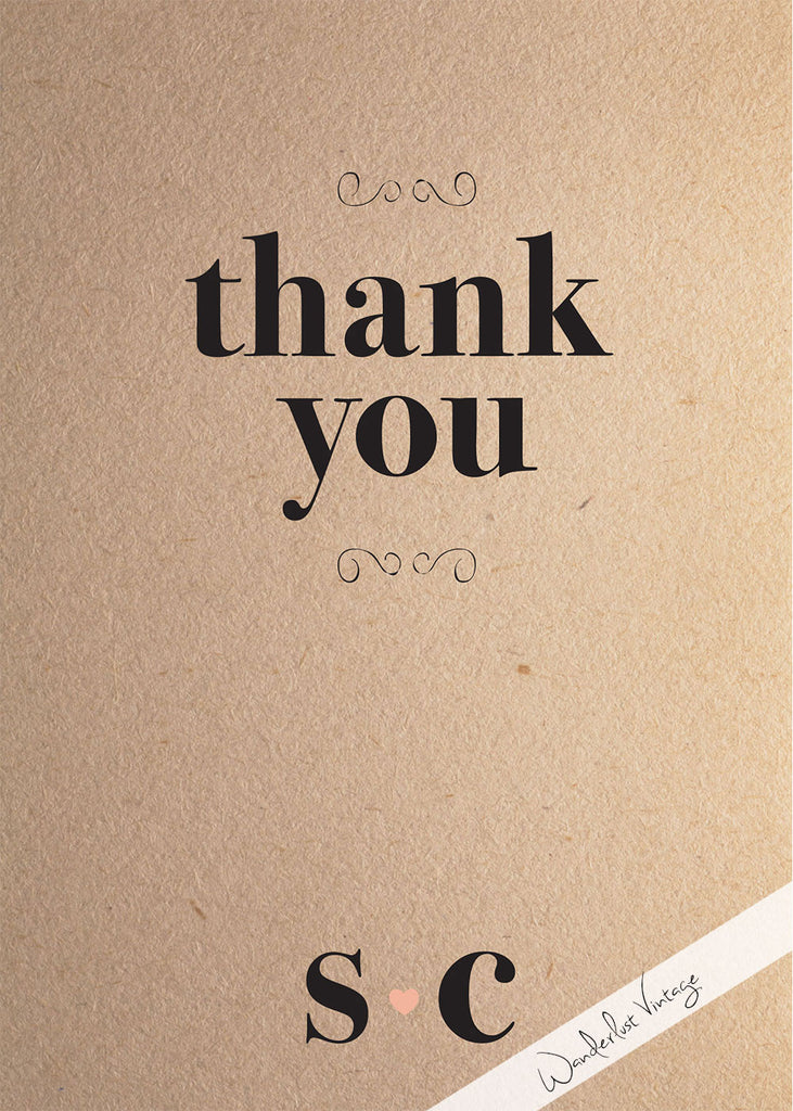 Watermark Love - Thank You Card - Digital Printable
