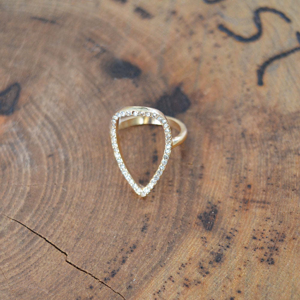 Crystal Ovate Ring