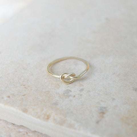 Sterling Gold Knot Ring