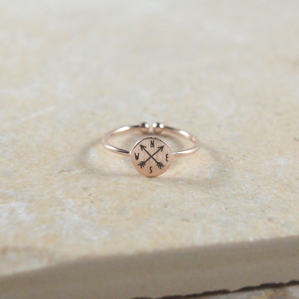 Rose Gold Compass Ring