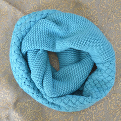 Turquoise Knit Inifinty Scarf