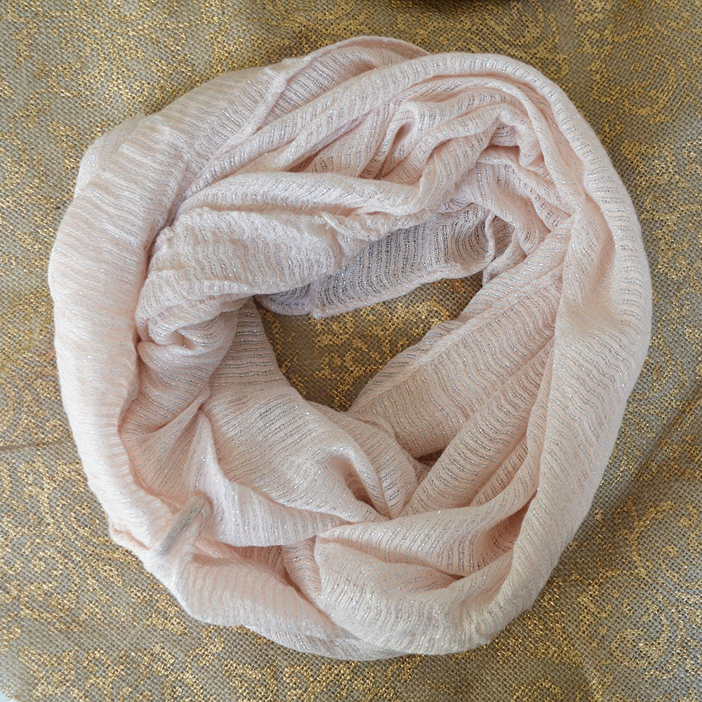 Pink Light Infinity Scarf
